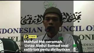 Mahfud Md: Ceramah Ustaz Abdul Somad soal salib tak perlu diributkan