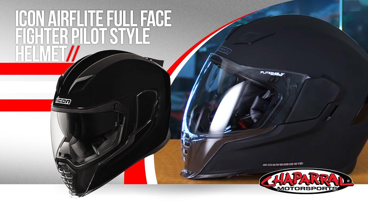 Fighter Pilot Motorcycle Helmet Icon Airflite Full Fac...