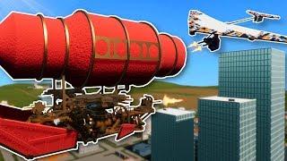 AIRSHIP ATTACKS LEGO CITY! - Brick Rigs Multiplayer Gameplay - Lego Blimp Battle