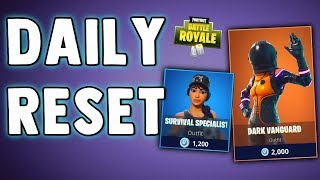 FORTNITE DAILY SKIN RESET - DARK VANGUARD & SURVIVAL SPECIALIST - Fortnite Battle Royale Daily Items