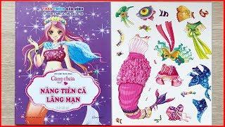 SÁCH DÁN HÌNH TRANG PHỤC CÔNG CHÚA TẬP 2 NÀNG TIÊN CÁ LÃNG MẠN - Sticker dolly dressing (Chim Xinh)