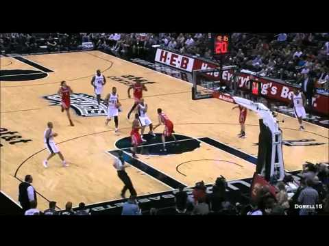 Tony Parker complete highlights 28 points San Antonio Spurs vs Houston Rockets 101-95 01/11/2012