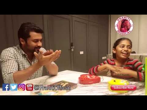 Praniti | Meets Actor Suriya | Singing...