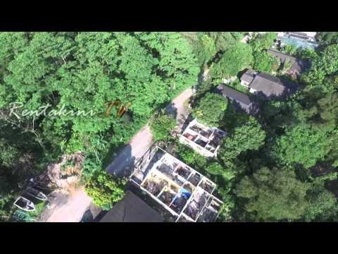 Aerial over Kampung Bakar Batu