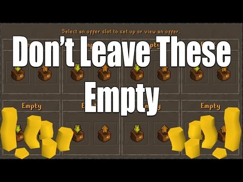 How To Not Waste Your G.E. Slots!! Easy Ways To Make Money With The Grand Exchange