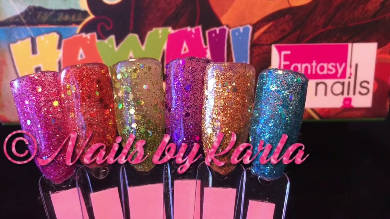 Fantasy Nails Hawaii Collection - YouTube