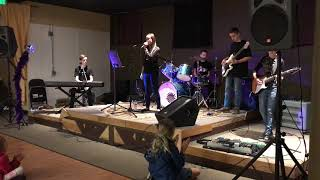"""Bellingham Music Lessons - Bellinghome Rockband plays """"Believer"""" by Imagine Dragons"""