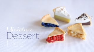 Mini Pies - Polymer Clay Dessert Tutorial