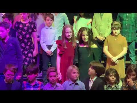 "Fourth Graders perform ""Rainbow"" at Stephen Gaynor School Winter Concert 2019"