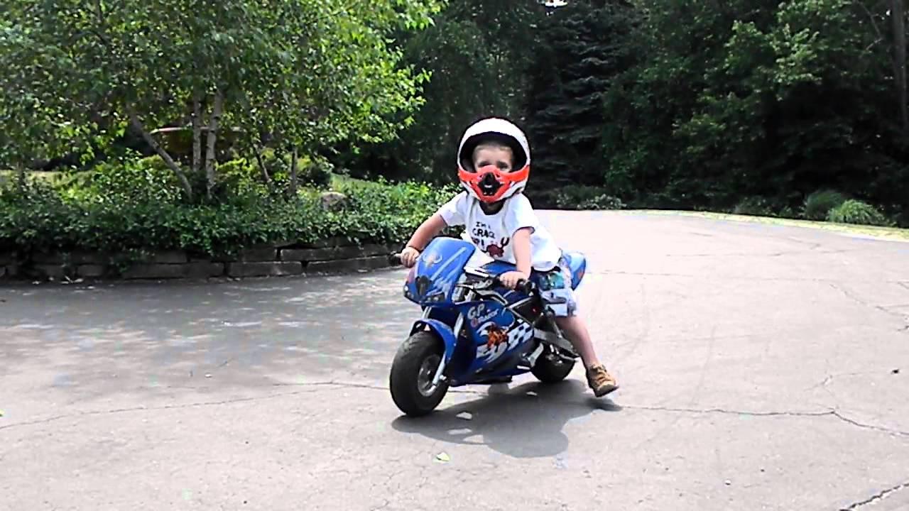 2 Year Old On Razor Pocket Rocket Youtube