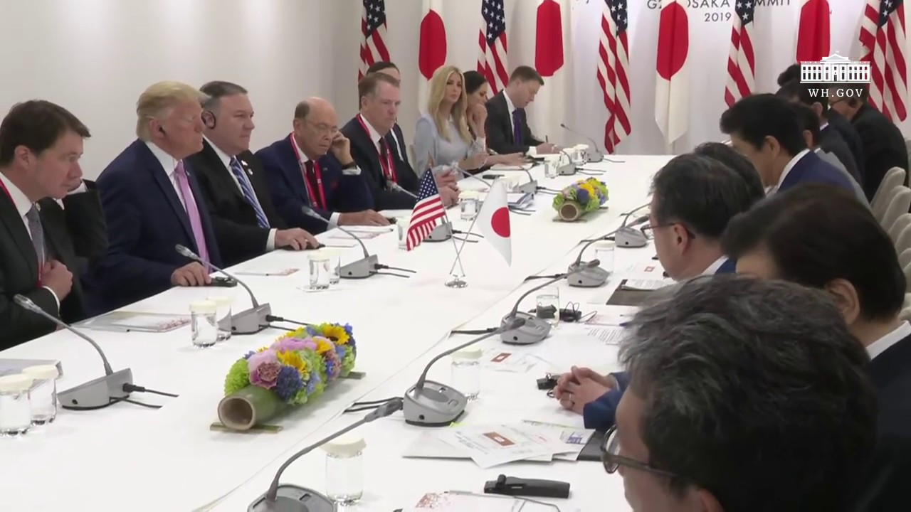The White House President Trump Participates in a Bilateral Meeting with the Prime Minister of Japan