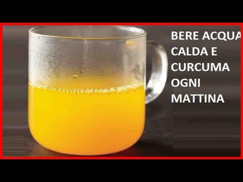 Bere acqua calda e curcuma a stomaco vuoto ogni mattina. Benefici- Italy365