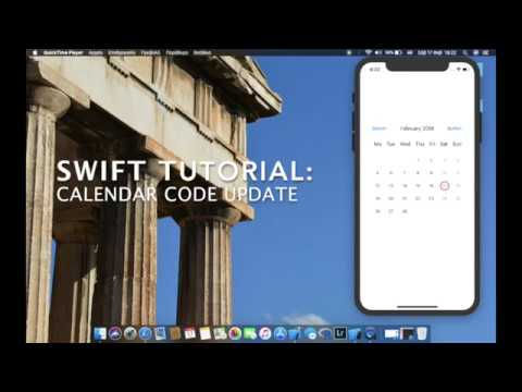 Swift tutorial(UPDATE) : How to create a fully working Calendar with a view lines of code