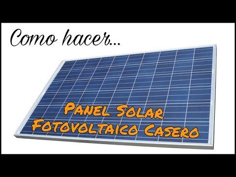 CÓMO HACER UN PANEL SOLAR FOTOVOLTAICO CASERO