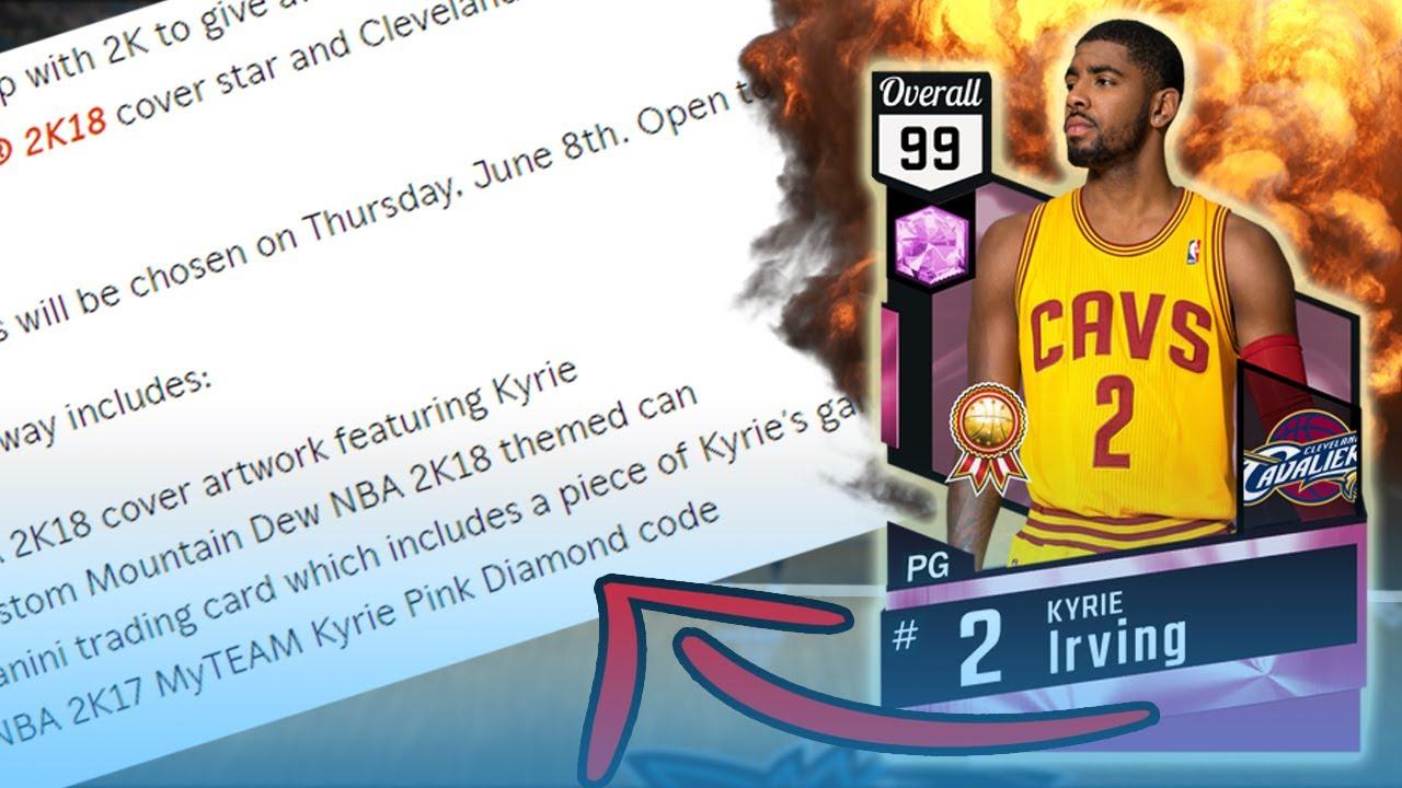 203c92c0678 NBA 2k17 - MyTeam - MyTeam Kits!  Pink Diamond Kyrie Irving!  - YouTube