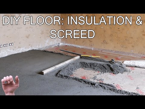 How to build a floor / Insulation and Screed / 01