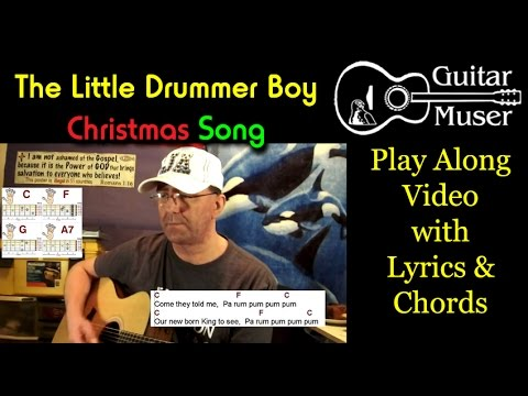Little Drummer Boy Easy 3 chord Christmas song - Play Along