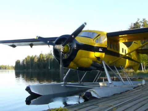 Wilderness Air DHC-3 piston-engine Otter on a early morning departure to one of the outposts.