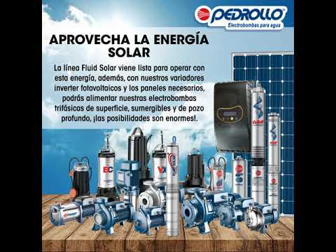 Electrobomba Pedrollo 4SR trabajando con energía solar thumbnail