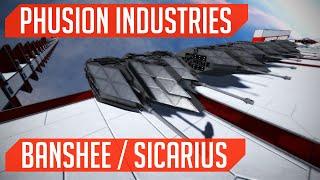 Phusion Industries (Ship Build): Banshee / Sicarius! (Space Engineers)