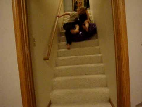Sliding Down The Stairs On A Mattress Youtube