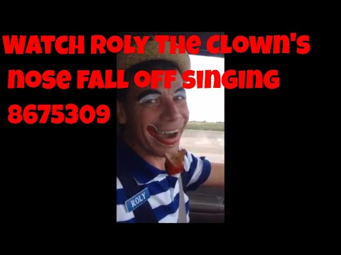 Houston Clown Roly sings 8675309 Jenny song
