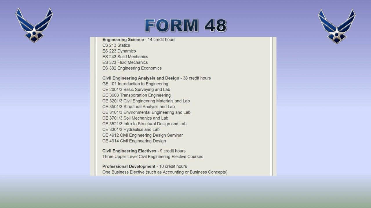 Creating a New AFROTC Form 48 - YouTube