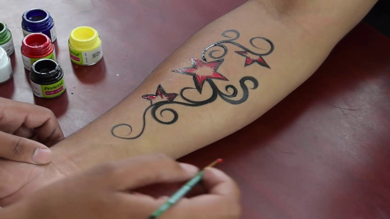 Stars Tattoo With Designs For Men And Women Temporary Tattoo