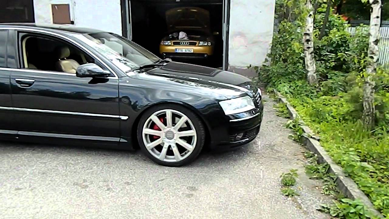 audi a8 d3 4 2 quattro lowering kit youtube. Black Bedroom Furniture Sets. Home Design Ideas