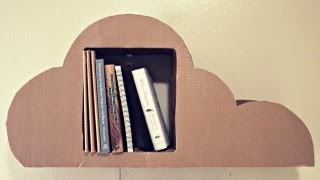 Diy Cardboard Cloud Bookshelf