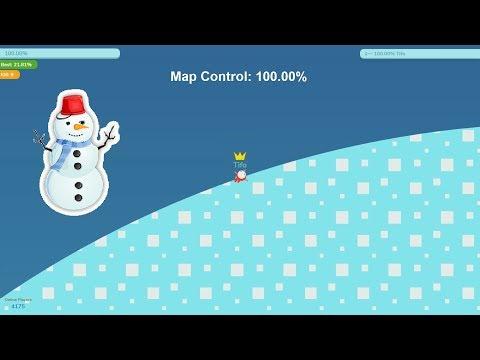 Paper.io 3 Map Control: 100.00% [Snow]