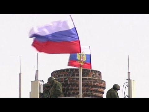 Ukrainische Soldaten geben
