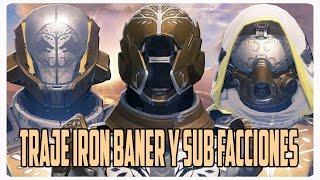 Destiny Traje iron baner y sub facciones