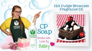 Soap Testing Hot Fudge Brownies Fragrance Oil- Natures Garden