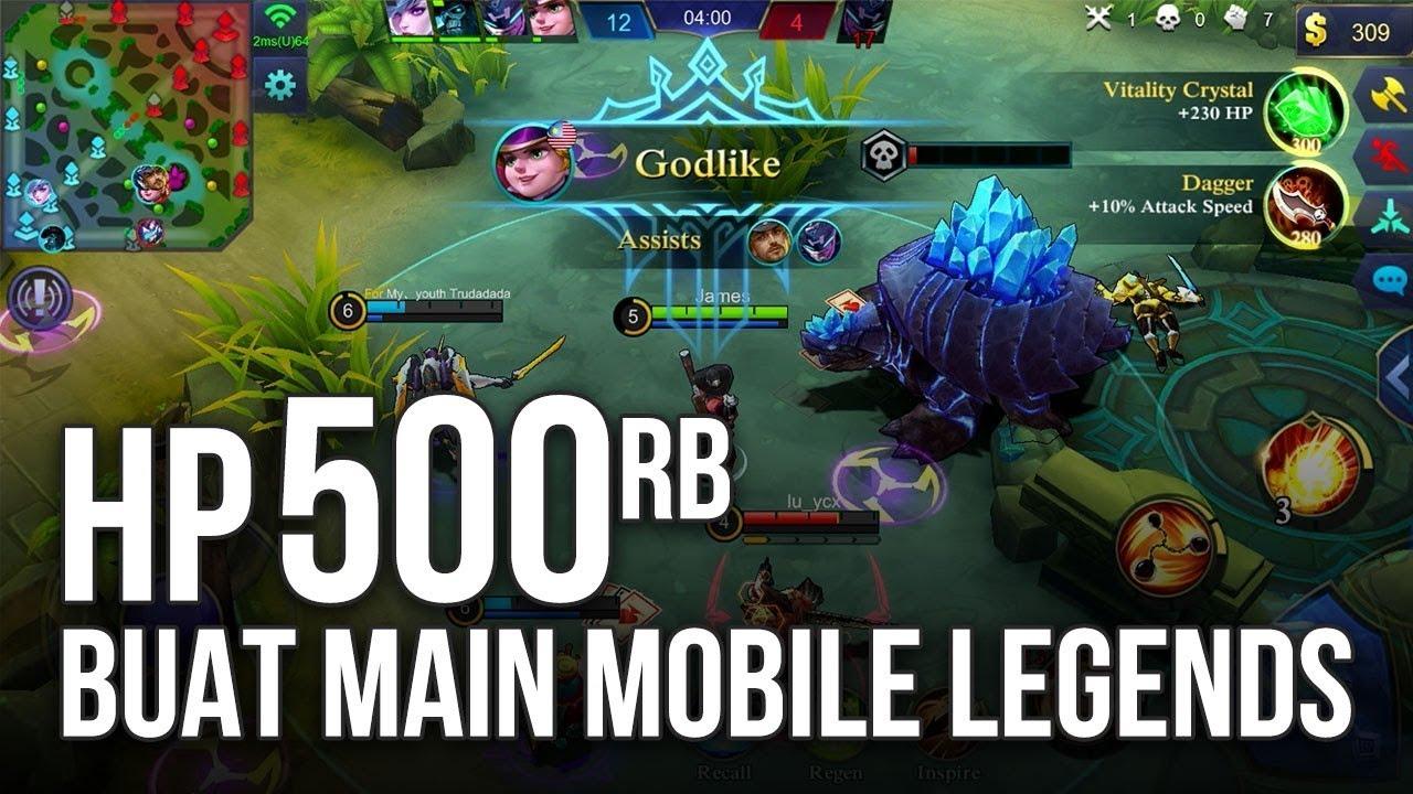 5 Hp Android Harga 500 Ribuan Terbaik Buat Main Mobile Legends Youtube