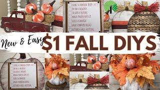 *NEW* MUST SEE! EASY DOLLAR TREE FALL DIYS   Fall DIY Home Decor   AUTUMN CRAFTS
