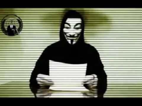 Anonymous Message To Tunisia