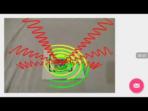 Electromagnetic field of an oscillating charge in Augmented Reality