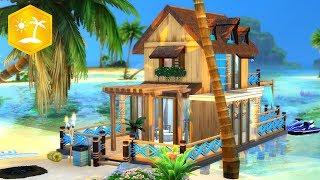 🌴 ISLAND LIVING TINY HOUSE 🌊 // Sims 4 Speed Build