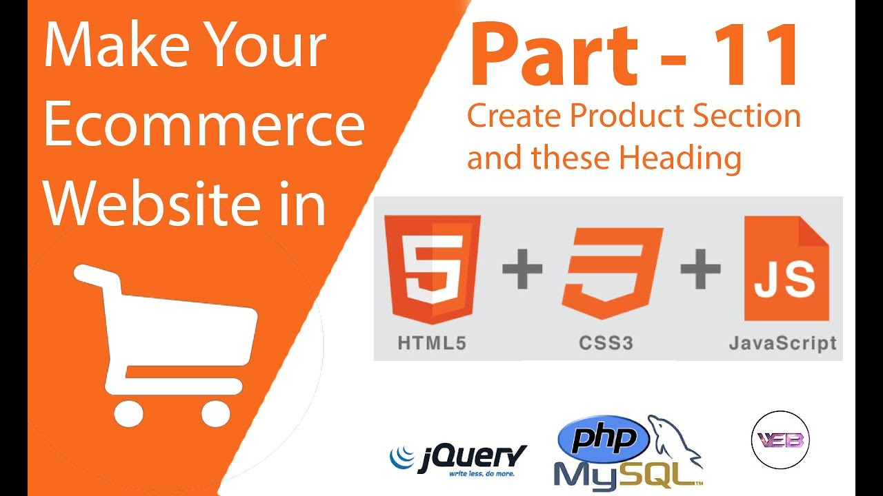 part 11 Create the product section and heading in HTML and CSS