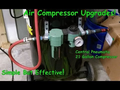 Simple Mods/Add-ons to Central Pneumatic 21-Gallon Compressor on