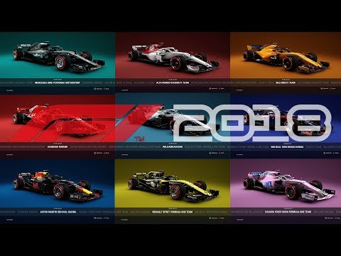 All The F1 2018 Cars and Drivers! - F1 2018 Media Gameplay