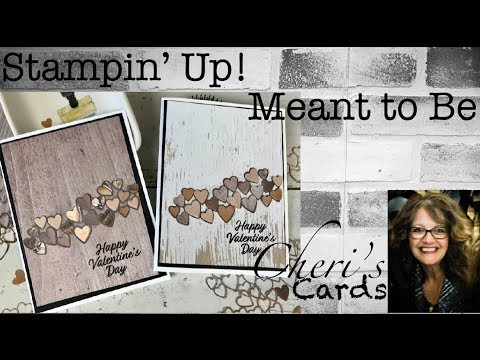 Farmhouse Valentine Wedding DIY Card Stampin' Up! Meant to Be Embossing Wood DSP