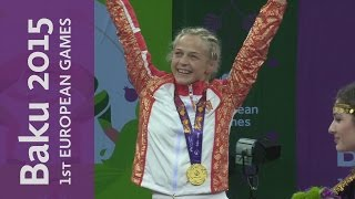 Mariya Stadnyk wins the 48kg Freestyle Gold Medal | Wrestling | Baku 2015 European Games