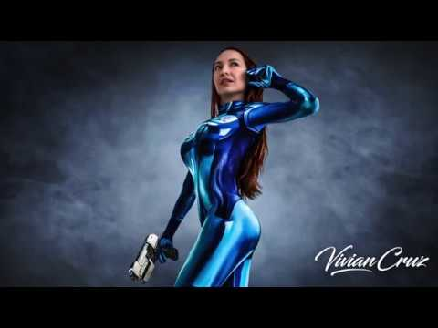 samus aran zero suit cosplay by model vivian cruz youtube