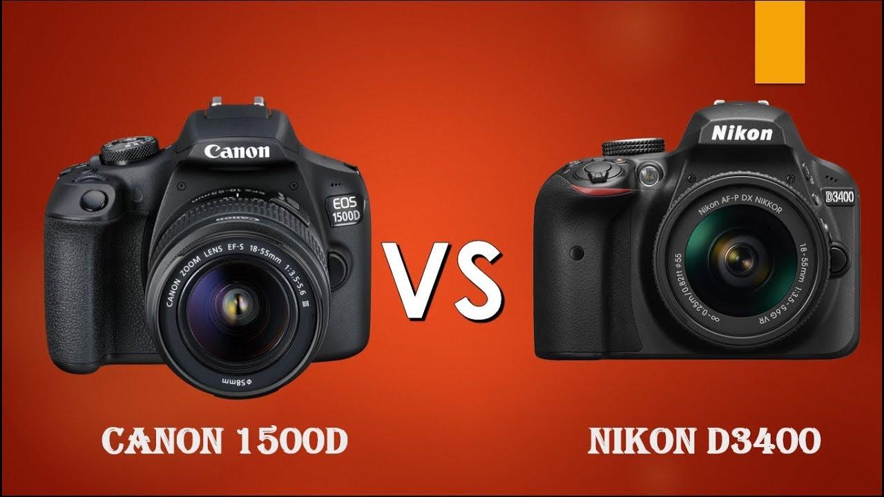 Canon 1500D vs Nikon D3400   Canon T7 vs Nikon D3400
