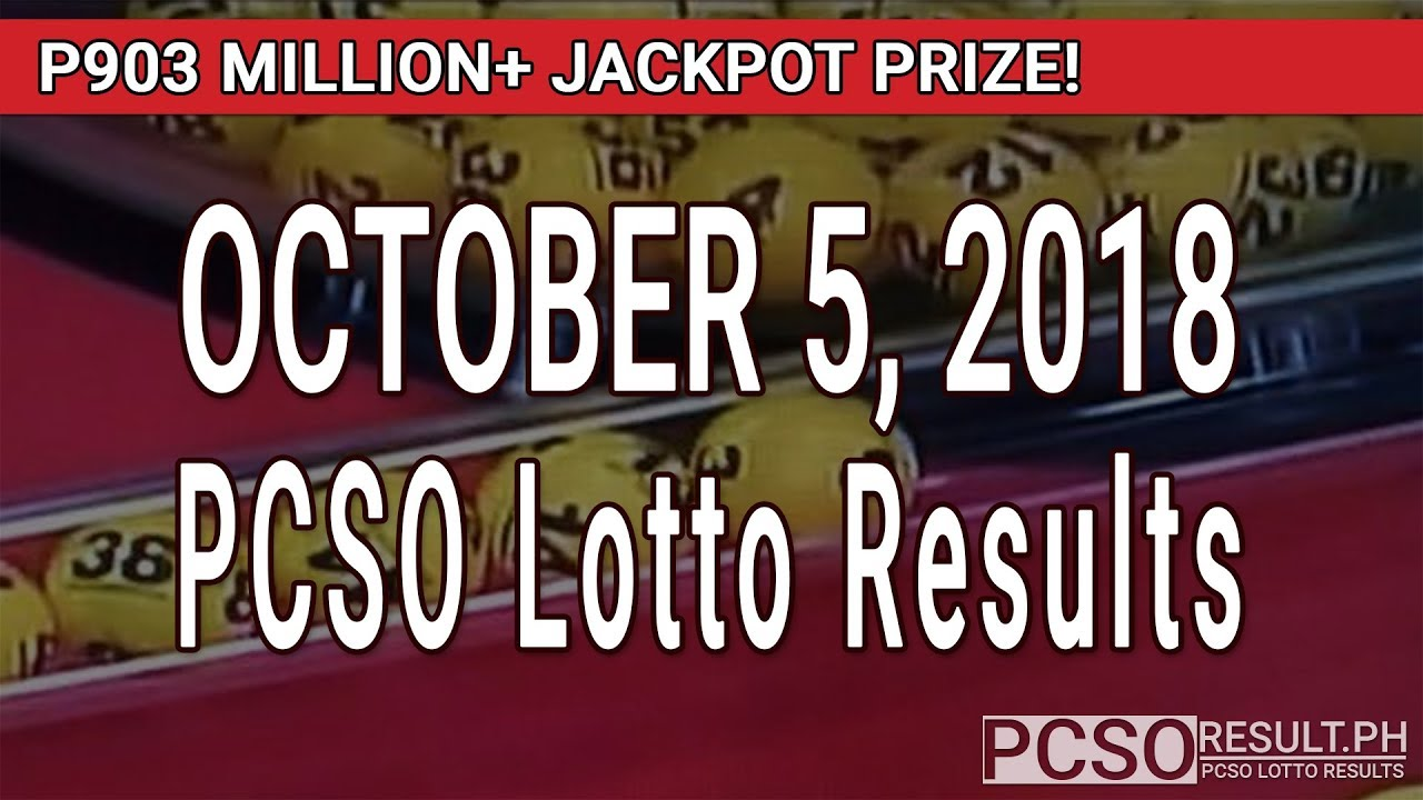 PCSO Lotto Results Today October 5, 2018 (6/58, 6/45, 4D, Swertres, STL &  EZ2)