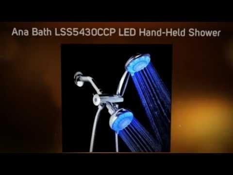 bathroom fixtures reviews ana bath lss5430ccp led shower system