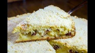 САХАРНЫЙ ПИРОГ С ИЗЮМОМ И ЯБЛОКАМИ на кефире \ Яблочный пирог \ Рецепт вкусного пирога