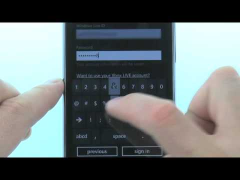 Sign Into A Windows Live Account Using The HTC HD7S: AT&T How To Video Series